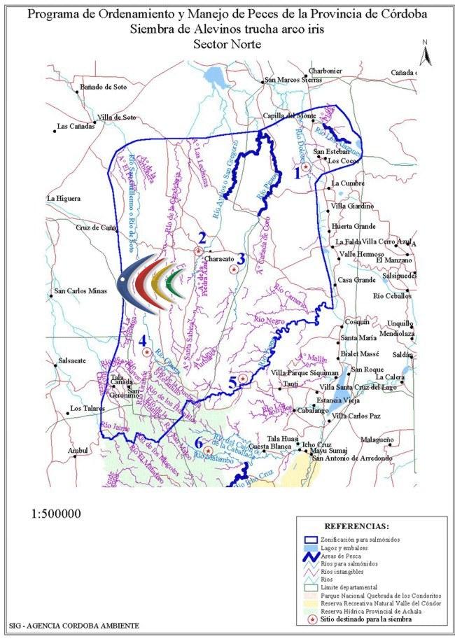 Truchas: ríos y arroyos de la zona norte de la provincia de Córdoba.